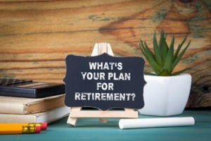 """sign """"What's your plan for retirement?"""""""